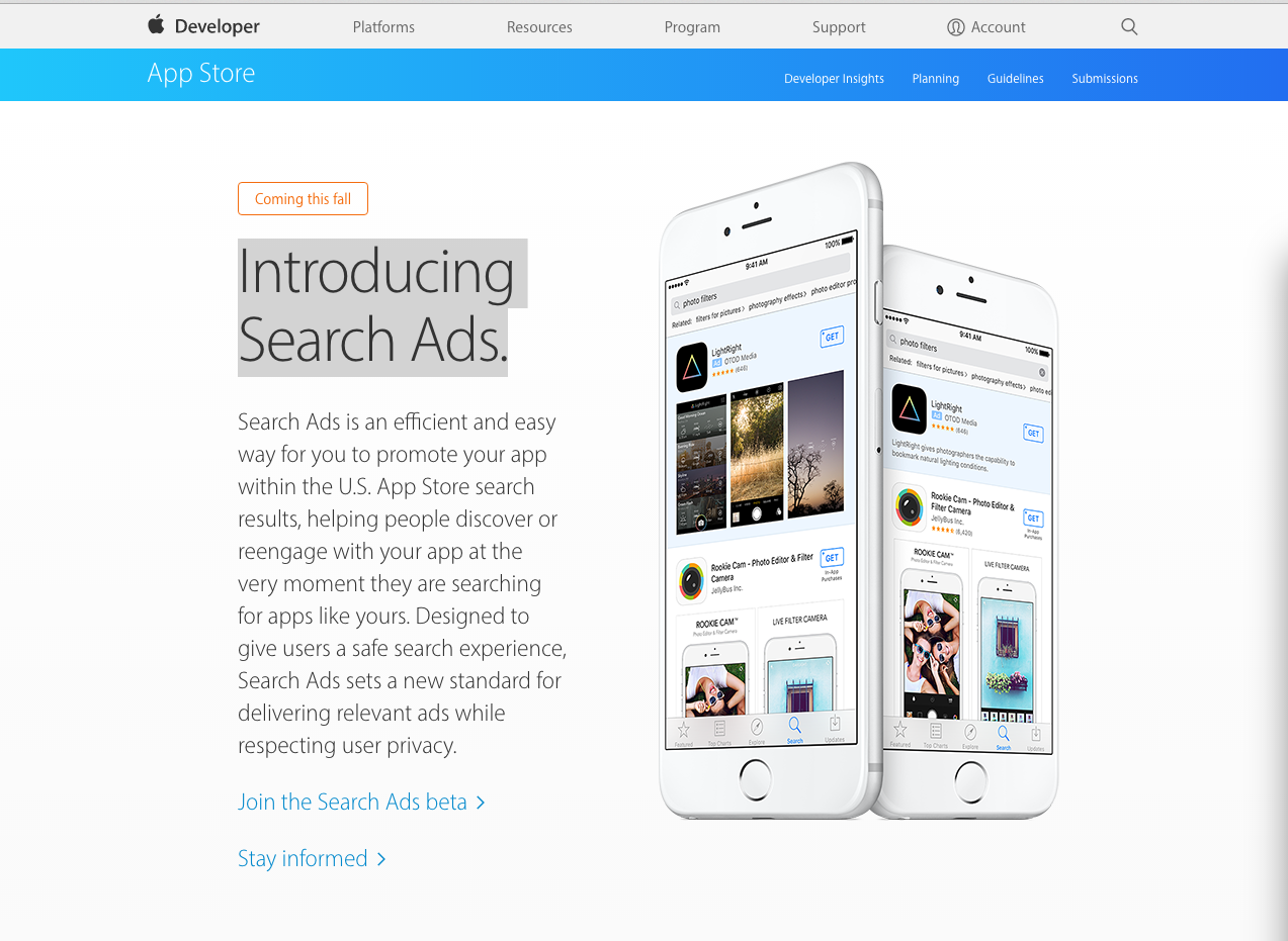 SearchAdds Apple